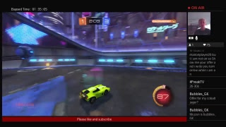 Playing rocket league/Trading