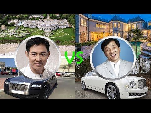 Who's richer JET LI or JACKIE CHAN houses, cars, jets, yachts