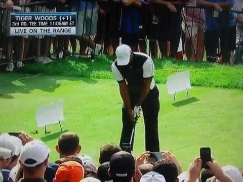 Tiger Woods - Connection Drill (Glove Under Right Arm) Aug 17, 2013