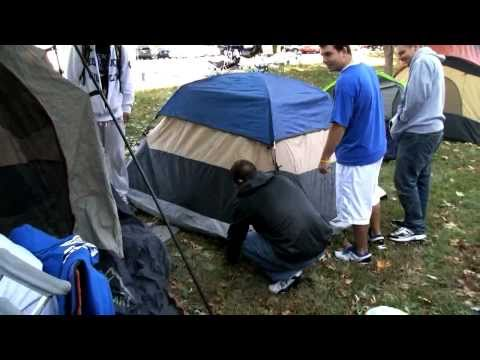 Big Blue Madness - Kentucky Fans go camping