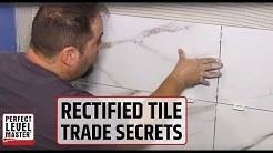 Trade secrets... Rectified/sharp edges tile installation using T-Lock™Leveling System
