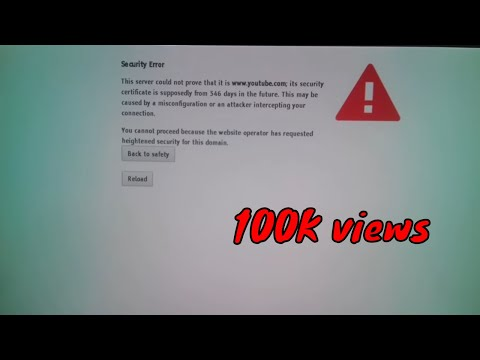 sony smart tv youtube security error solved