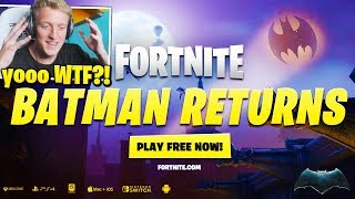 Tfue Reacts to Fortnite x Batman Event Trailer