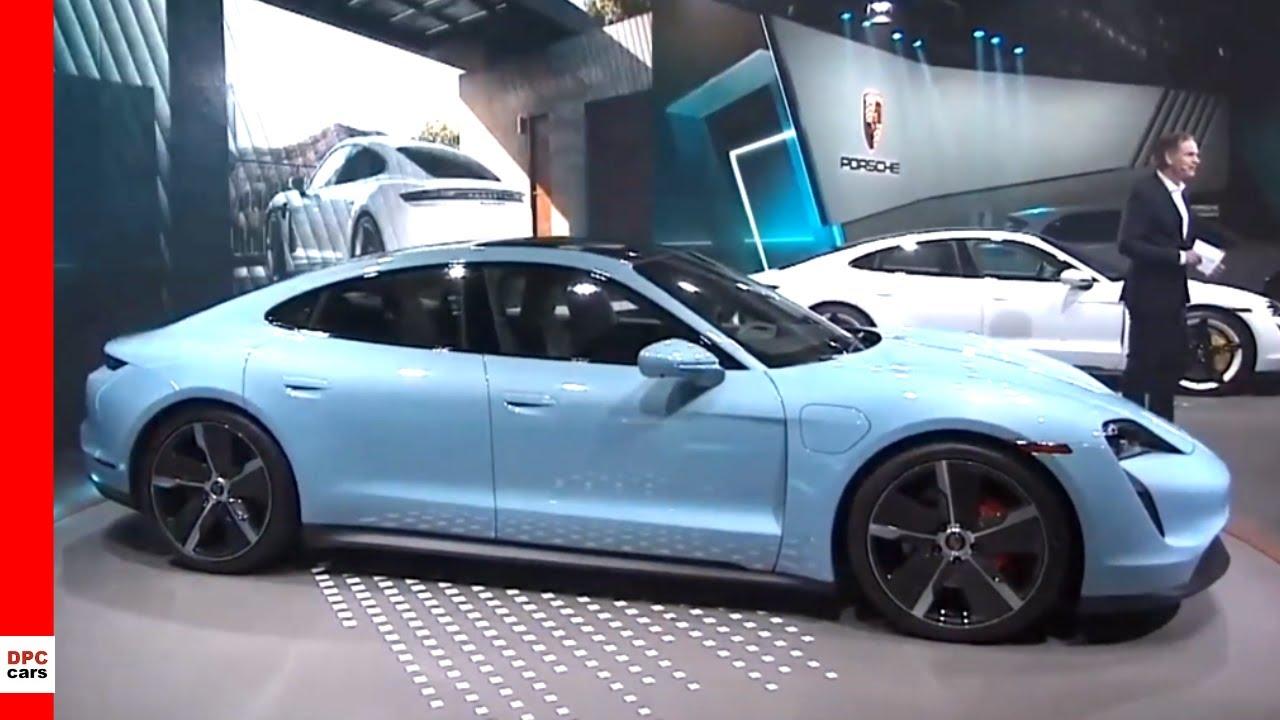 2020 Los Angeles Auto Show.2020 Porsche Taycan 4s Presentation At Los Angeles Auto Show 2019