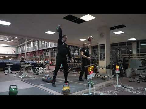 Online World Cup Of Kettlebell Sport Ivan Denisov 36 Kg, Ivan Popov - 28 Kg