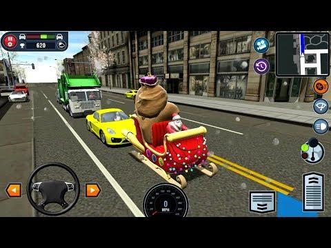 Car Driving School Simulator #16 SANTA'S SLEIGH! - Android IOS gameplay