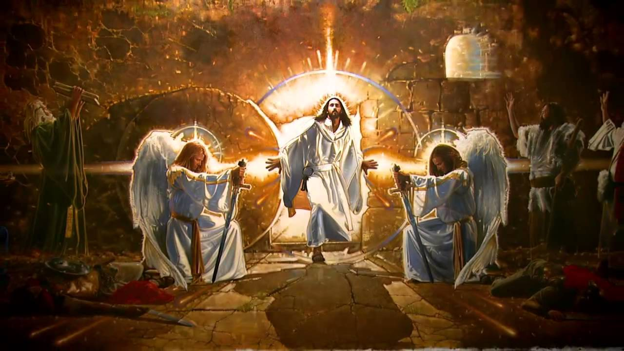 Resurrection of christ mural youtube for A mural is painted on a