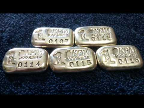 Keystone Precious Metals 1 Oz Poured Silver Bars