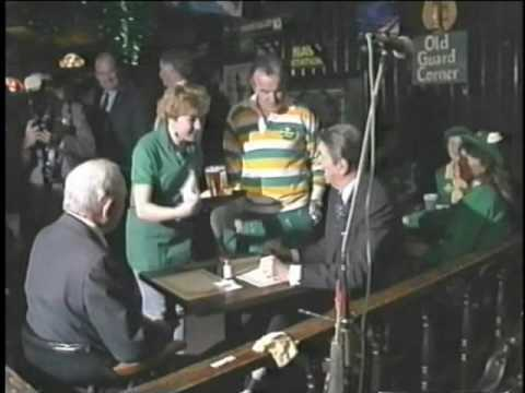 President Reagan visits Pat Troy's Ireland's Own pub