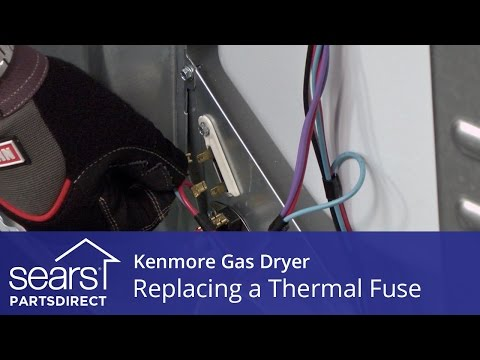 how to replace a kenmore gas dryer thermal fuse youtube kenmore gas dryer wiring diagram old kenmore gas dryer not heating