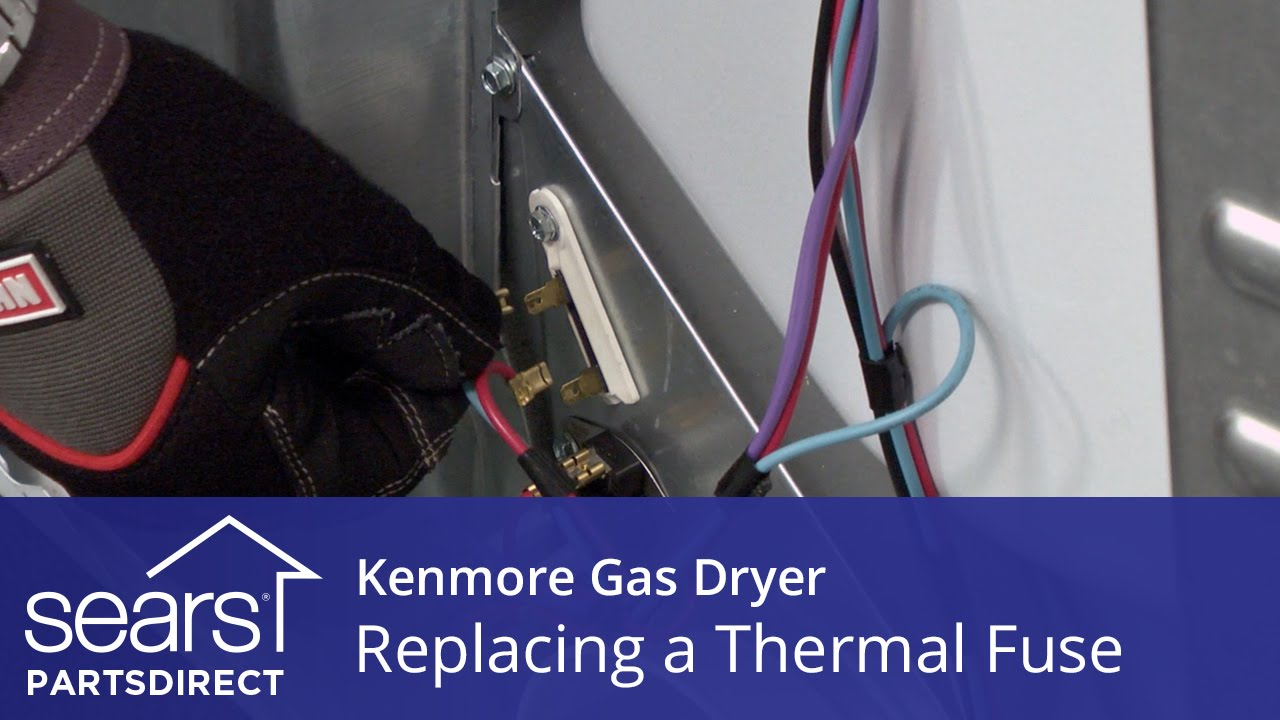maxresdefault how to replace a kenmore gas dryer thermal fuse youtube dryer fuse box at readyjetset.co