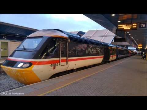 GWR HST (Class 43) - InterCity Swallow Livery - Departing Reading