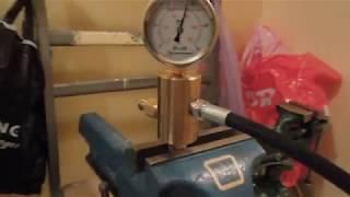 НРГ - Насос ручной гидравлический, High pressure hand pump test 1