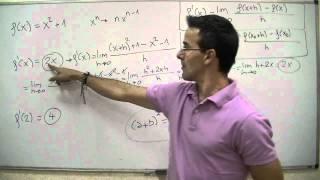 Derivada utilizando la definicion 01 BACHILLERATO matematicas thumbnail
