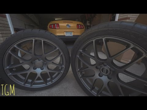 Mustang Gets New Wheels! 20 Inch Charcoal AMR's