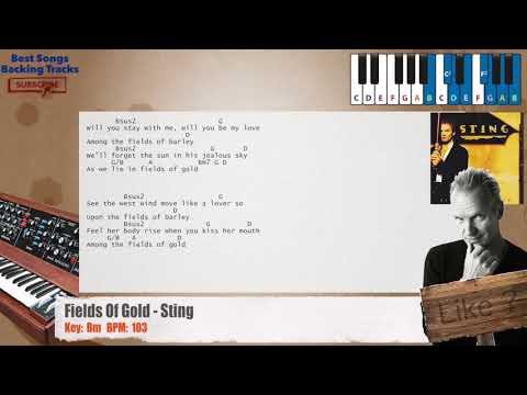 Fields Of Gold - Sting Piano Backing Track with chords and lyrics