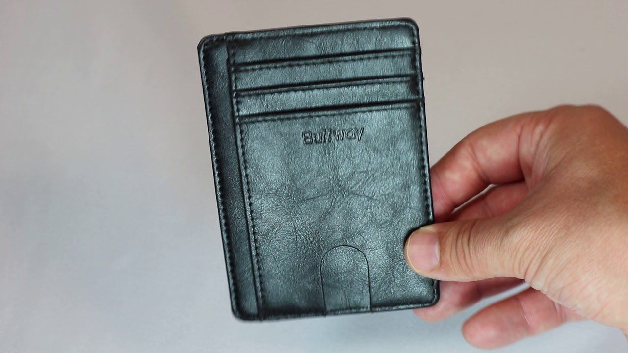 76c7074780af Review: Slim Minimalist Front Pocket RFID Blocking Leather Wallets From  Buffway