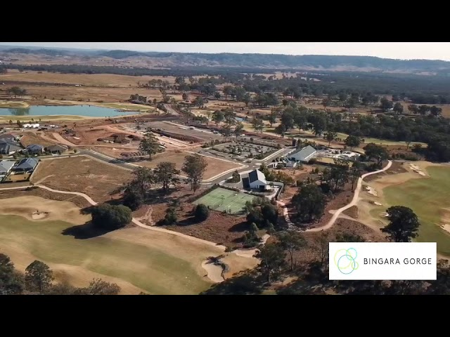 Bingara Gorge Fairways Fly over