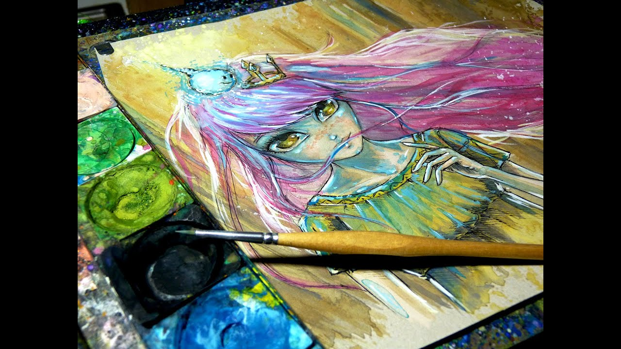 Game with watercolor - Aurora Time Lapse Watercolor Painting Child Of Light Gaming Youtube