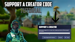 How To Get Your Own Support A Creator Code! (Fortnite Battle Royale)