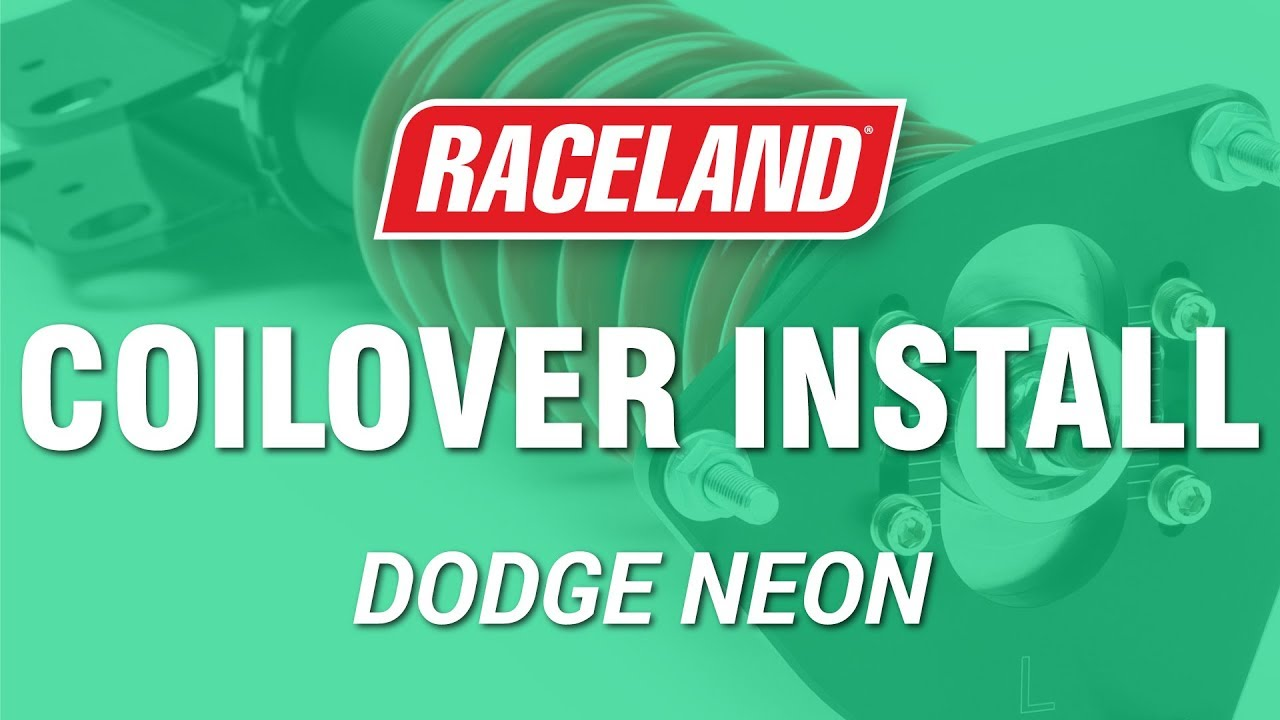 How To Install Raceland Dodge Neon Srt4 Coilovers Youtube
