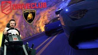 LAMBO-Челлендж - быстрые круги - Driveclub PS4 + руль Fanatec ClubSport