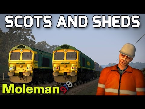 Scots and Sheds! | TS2016 | Class 66 Freightliner | Edinburgh to Glasgow