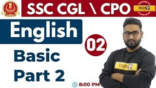 Class 02 ||#SSC CGL \ CPO || English || By Prince Sir || Basic Part-02