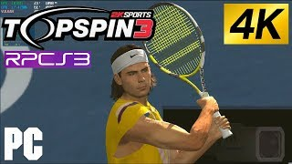 PS3 TOP SPIN 3 in 4k on PC 60fps RPCS3 Emulator Tennis
