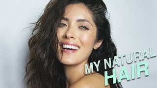 How I Air Dry and Style My Natural Hair | Coarse, Frizzy, Wavy, Textured Hair | Melissa Alatorre