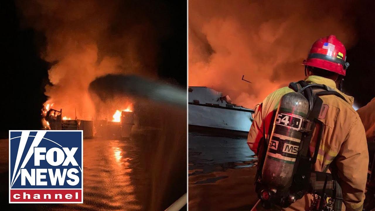 FOX News California boat fire kills 25 people, 9 remain missing