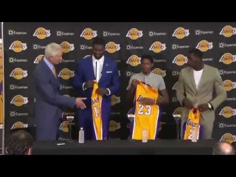 Lakers Introductory Press Conference   Roy Hibbert, Lou Williams, Brandon Bass