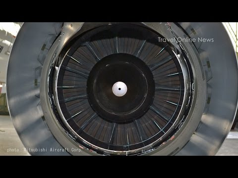 Jet engine and APU of MRJ (Mitsubishi Regional Jet) / ジェットエンジンとAPU