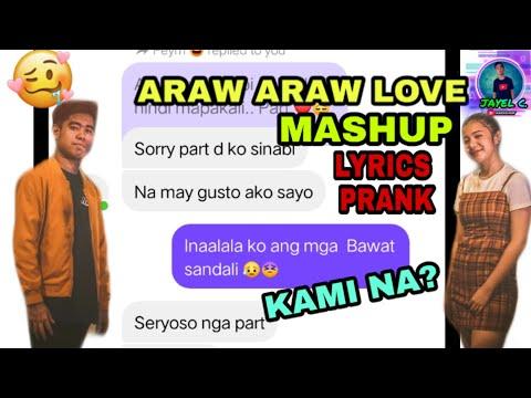 ARAW ARAW LOVE MASHUP - LYRICS PRANK to my GIRL BESTFRIEND II)
