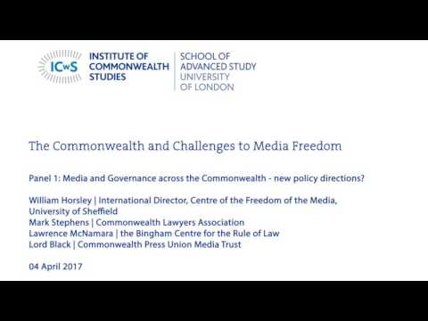 Media Governance across the Commonwealth - new policy directions?