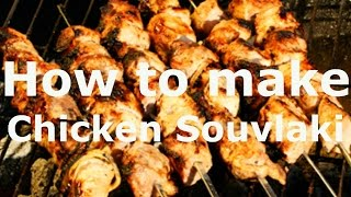 ???? Chicken Souvlaki and  Greek Lemon Potatoes RECIPE ,How to make Shish-Kebab or Skewers Greek Foo