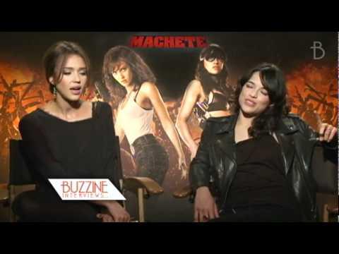 Machete: Jessica Alba, Michelle Rodriguez, Danny Trejo and Robert Rodriguez - Buzzine Interviews