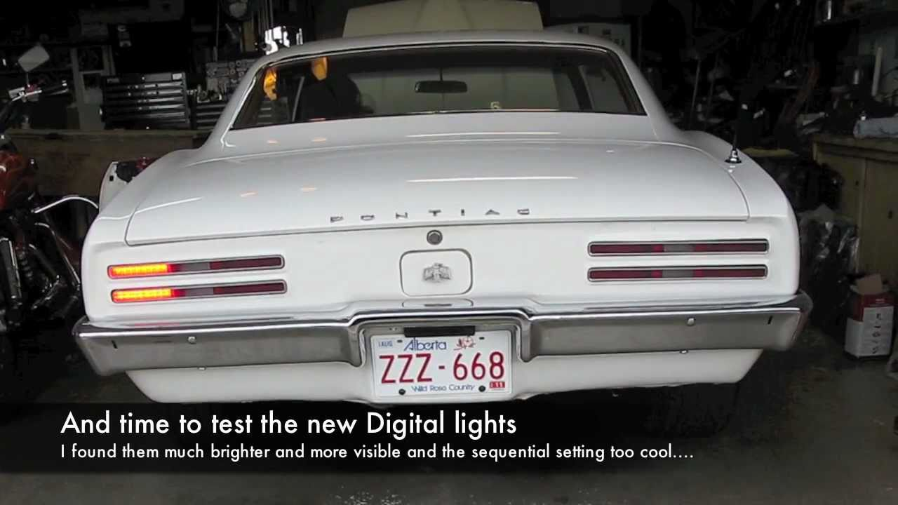 1968 pontiac firebird digital taillight installation  1974 78 pontiac firebird led tail light