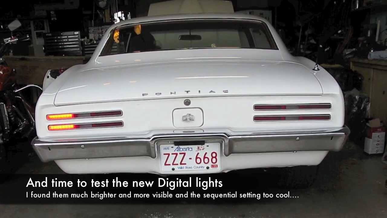 medium resolution of 1968 pontiac firebird digital taillight installation