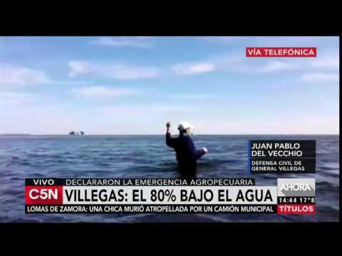 C5N - Villegas, el 80% bajo el agua, en emergencia agropecuaria
