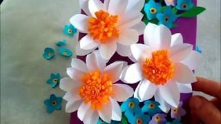DIY. Blumenkarte. Bastelidee zum Muttertag, Vatertag oder Geburtstag. Grußkarte