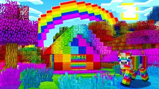 HOW TO MAKE A RAINBOW MINECRAFT WORLD IN POCKET EDITION!