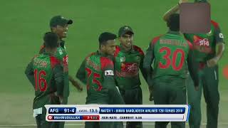 BD vs Afg 1st T20 Mahmudullah takes two wickets