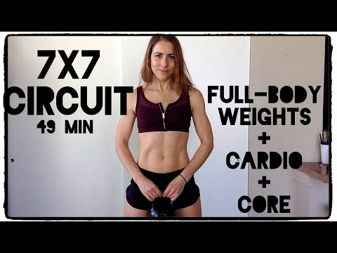 7x7 HIIT + Strength Fat Burning Circuit! 49 Min of FUN :P
