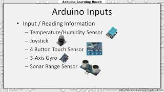 Lesson 1 - Introduction to Arduino and the Arduino Learning Board Project