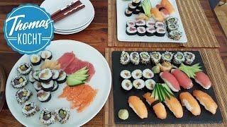 Sushi selber machen - Nigiri, Maki Sushi und  California Roll