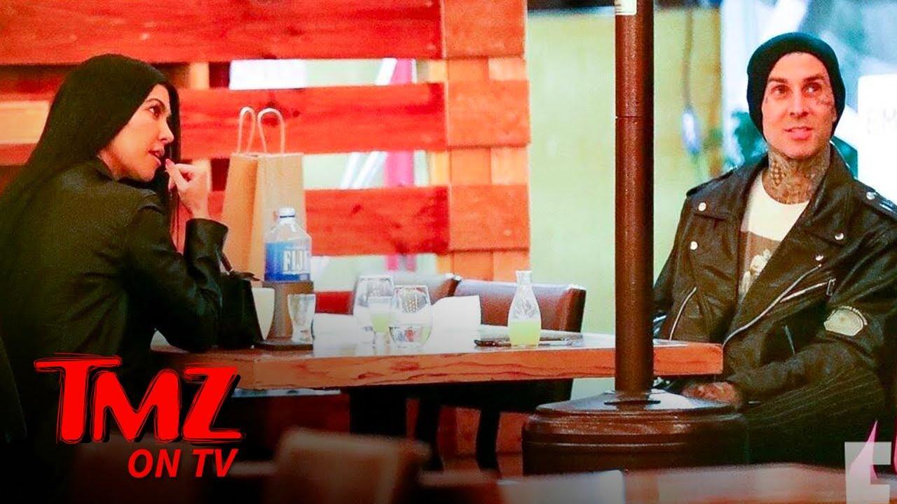 Kourtney Kardashian Holds Hands With Travis Barker During Date Night | TMZ TV