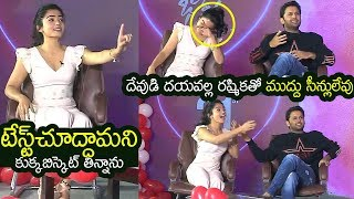 Nithin Reveals Hilarious Secret About Rashmika Diet Food | Bheeshma Funny Interview | Filmylooks