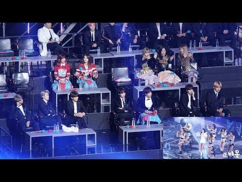 BTS, BLACKPINK Reaction to JENNIE (제니 무대보는 방탄소년단, 블랙핑크) 4K 직캠 by 비몽
