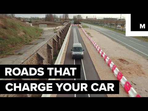 Inductive roads charge cars